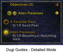 Dugi Guides Interface - Detailed Mode