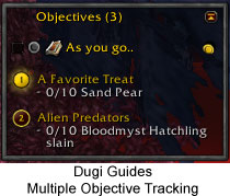 Dugi Guides - Multiple Objective Tracker