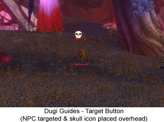 Dugi Guides - Target Button with Skull Icon