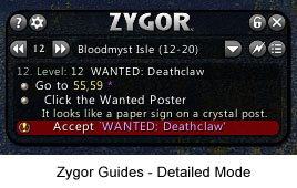 Zygor Guides Interface - Detailed Mode