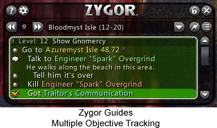 Zygor Guides - Multiple Objective Tracking